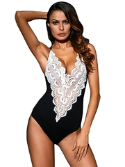 Q667-1122 Body elegant, decorat cu broderie si decolteu in V