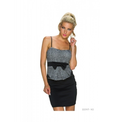 Rochie Black-Grey Office