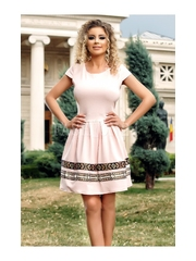 Rochie Adele roz pudra in clos