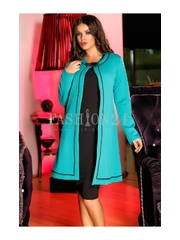 Rochie Famous Cardigan Turquoise