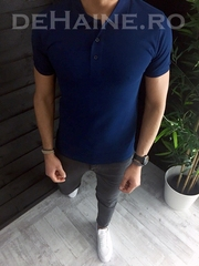 Tricou barbati polo bleumarin slim fit ZR A3826 P12-4