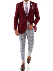 Sacou barbati grena slim fit ZR A2030
