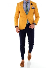 Sacou barbati mustar slim fit ZR A1701 R7