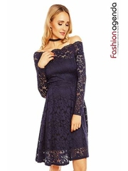 Rochie Heavenly Lace Bleumarin