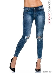 Jeans White Pearls